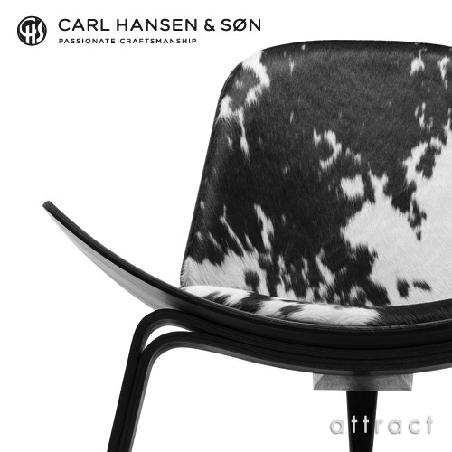 Carl Hansen & Son カールハンセン & サン CH07 シェルチェア イージーチェア オーク ブラック塗装 張座:レザー Cowhide デザイン:ハンス・J・ウェグナー