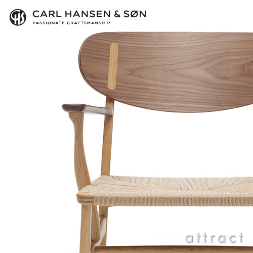 Carl Hansen & Son カールハンセン & サン CH22 ラウンジチェア ウォルナット×オーク ミックス オイルフィニッシュ オークキャップ デザイン:ハンス・J・ウェグナー