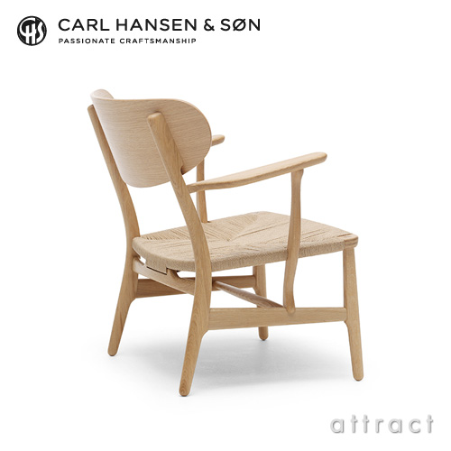 Carl Hansen & Son カールハンセン & サン CH22 ラウンジチェア オーク ソープフィニッシュ オークキャップ デザイン:ハンス・J・ウェグナー