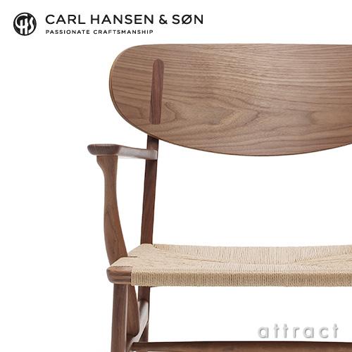 Carl Hansen & Son カールハンセン & サン CH22 ラウンジチェア ウォルナット オイルフィニッシュ ウォルナットキャップ デザイン:ハンス・J・ウェグナー