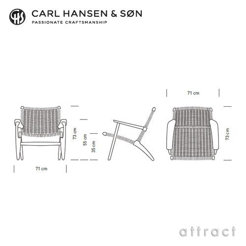 Carl Hansen & Son カールハンセン & サン CH25 ラウンジチェア オーク ホワイトオイルフィニッシュ デザイン:ハンス・J・ウェグナー
