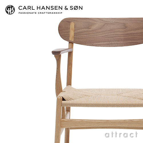 Carl Hansen & Son カールハンセン & サン CH26 アームチェア ウォルナット×オーク ミックス オイルフィニッシュ オークキャップ デザイン:ハンス・J・ウェグナー