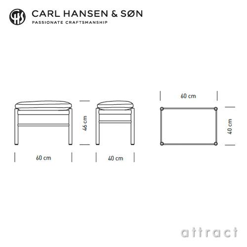Carl Hansen & Son カールハンセン & サン OW149F コロニアルスツール オットマン フットスツール オーク オイルフィニッシュ 張座:レザー Thor デザイン:オーレ・ヴィンシャー